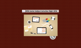 SRHS Senior Subject Selection 2015