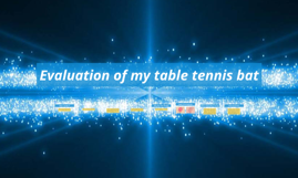 Evaluation of my table tennis bat