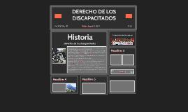 DERECHO DE LOS DISCAPACITADOS