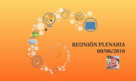 REUNIÓN PLENARIA - 09/06/2016