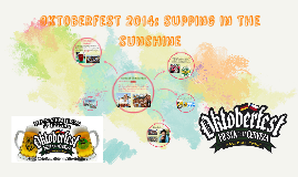 Oktoberfest 2014: supping in the sunshine