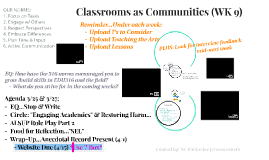 Classrooms as Communities (WK 7)OUR NORMS: