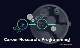 Career Research: Programming