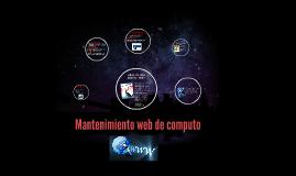 Mantenimiento web de computo
