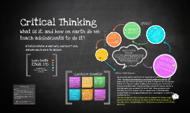 Critical Thinking in Adolescents