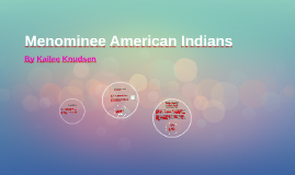 Menominee American Indians