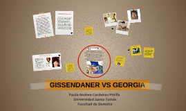 GISSENDANER VS GEORGIA