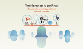 Machismo en la política