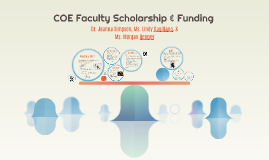 COE Faculty Scholarship & Funding