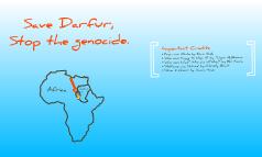 The Sudan/Darfur Genocide