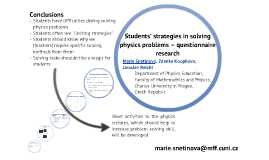 Students' strategies in solving physics problems – questionnaire research