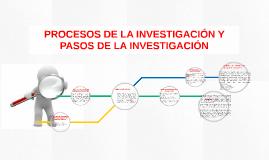 PROCESOS DE LA INVESTIGACIÓN Y PASOS DE LA INVESTIGACIÓN