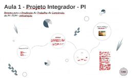 Aula 1 - Projeto Integrador