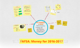 FAFSA: Money for 2016-2017