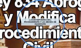 LAS EXCEPCIONES DEL PROCEDIMIENTO Y LOS MEDIOS DE INADMISIÓN