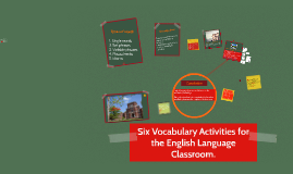 Copy of SIX VOCABULARY ACTIVITIES FOR THE ENGLISH LANGUAGE CLASSROOM