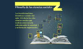 Copy of Filosofía de las ciencias sociales