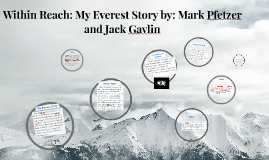 within reach my everest story