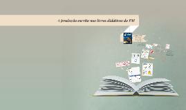 A produção escrita nos livros didáticos do EM
