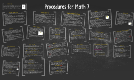 Copy of Procedures for Math 7