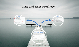 True and False Prophecy (Jeremiah)