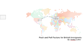 Copy of Push and Pull Factors for British Immigrants