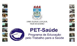 Apresentação PET-SAUDE 28/06/2013