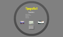 Copy of Tipografia