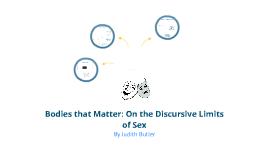 Judith Butler: Bodies that Matter
