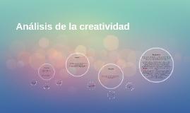 Análisis de la creatividad