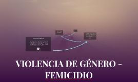 VIOLENCIA DE GÉNERO - FEMICIDIO