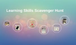 Learning Skills Scavenger Hunt