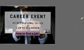 VU International Office & ESN VU Amsterdam Career Event! 8 Nov 2017