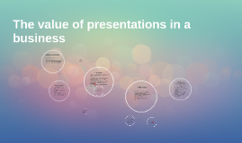 The value of Presentations in a business