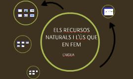 Copy of L'aigua com a recurs