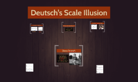 Deutsch's Scale Illusion