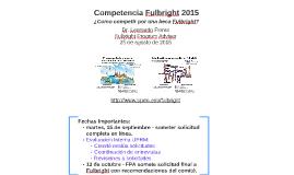 Competencia Fulbright 2015