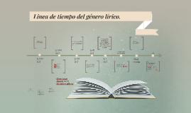 Copy of Linea de tiempo del genero lirico