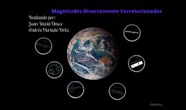 magnitudes directamente correlacionadas