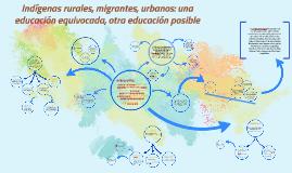 """Ambientes de aprendizaje """"Indígenas rurales, migrantes urbanos: una educación equivocada, otra educación posible."""