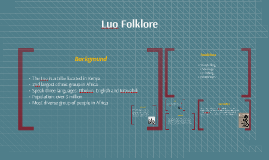 Luo Folklore