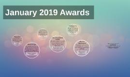 January 2019 Awards