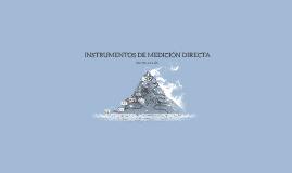 INSTRUMENTOS DE MEDICIÓN DIRECTA