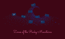 Zones of the Rocky Mountains