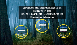 Career/Mental Health Integration:  Meaning in Life