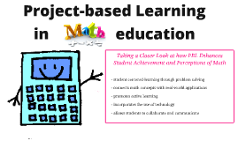 Project Based Larning in Mathematics Education