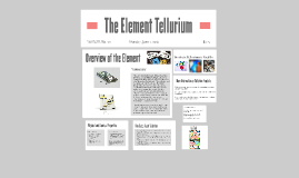 The Element Tellurium