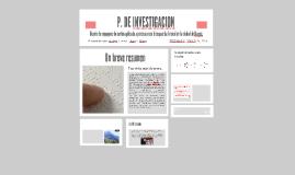 P. DE INVESTIGACION