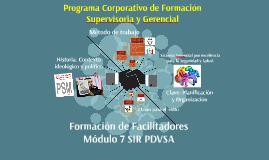 Formacion de Facilitadores Modulo 7
