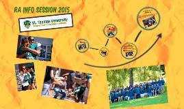 Residence Advisor Info Session 2015